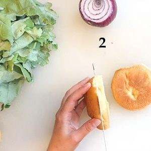 cut calories by slicing a roll in half