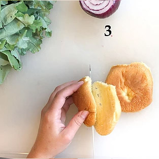 reduce portion sizes by slicing your roll in half