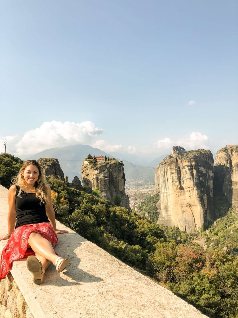 Meteora Rock Formations with a view of one of the oldest monasteries
