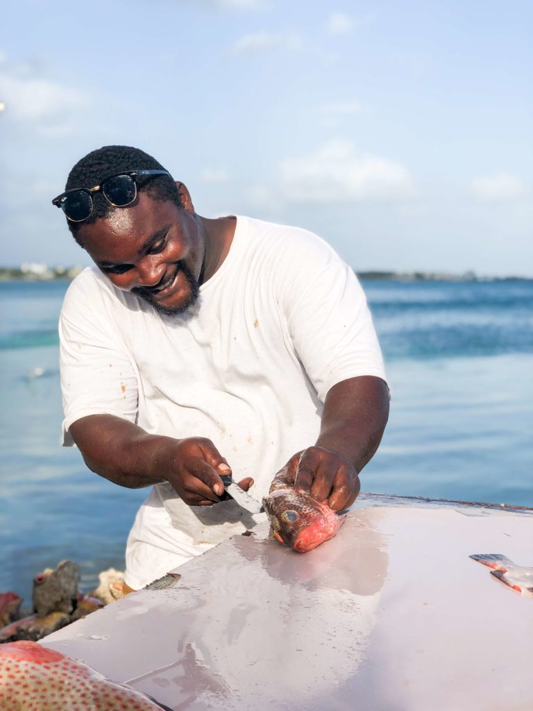 Montagu Beach Fish Market in Bahamas